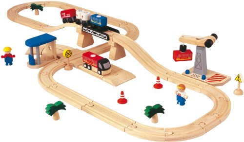 - PlanToys Road & Rail Transportation Play Set