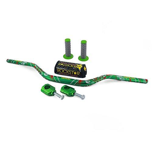"1-1/8"" 28mm Handlebar Fat Handle Bar + Riser Mount Clamp + Pad + Grips Set For KAWASAKI KX125 KX250 KX250F KX450F / For Honda CR125R CR250R CRF250R CRF450R CRF450RX CRF250X CRF450X / SUZUKI RMZ250"