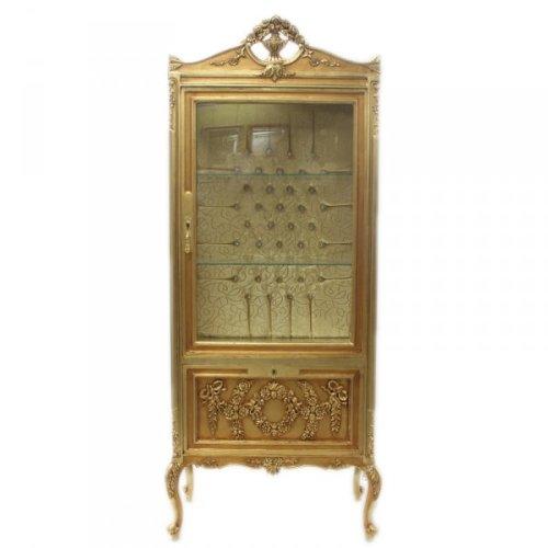 Casa Padrino Barock Vitrine Gold ModF2 - Vitrinenschrank