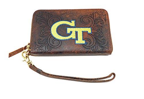 Gameday Boots Women's Georgia Tech Wristlet, Brass, 8x5x1/2