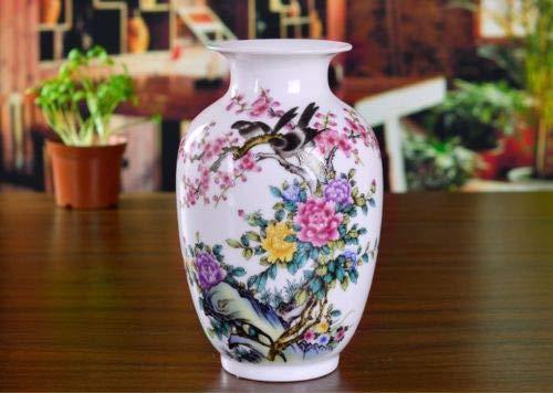 FairOnly Chinese FAMILLE Rose Porcelain Handmade Painting Flower&Bird VASE QP40013 Show
