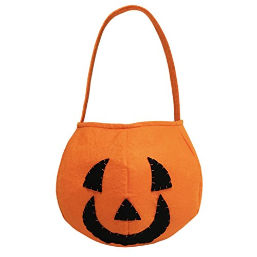 Pumpkin Trick or Treat Candy Bag for Halloween Party Costumes
