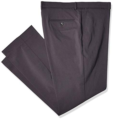 Tommy Hilfiger Men's Stretch Comfort Dress Chino with Expandable Waist, Gray, 38W x 32L