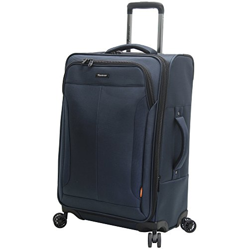 Upright Navy Large Rolling Luggage - Pathfinder Luggage PX-10 Large 28
