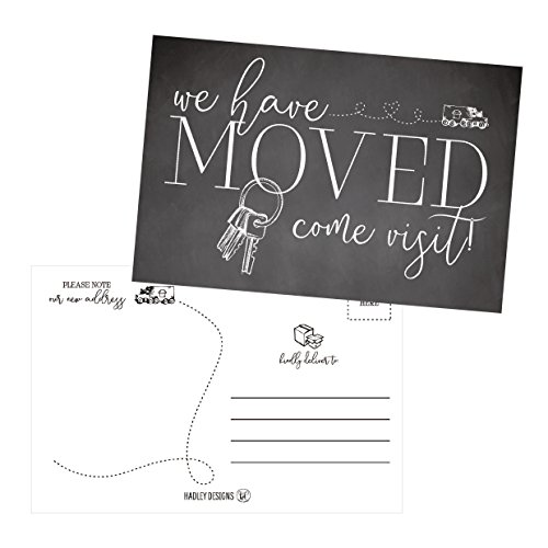 Set of 50 We've Moved Postcards, Change of New Address Moving Announcements, House Warming Gifts, Weve Moved Cards, We Have Just Moved Note Cards, Pack of Real Estate Home Postcard Announcement (Announcement Postage)