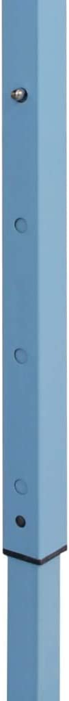 vidaXL Carpa Jard/ín Plegable Pop-up 4 Paredes Acero Tela Azul 3x4,5 m Cenador
