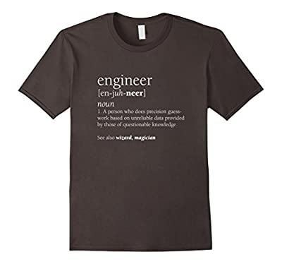 Engineer Definition T Shirt, Funny Engineering Gift