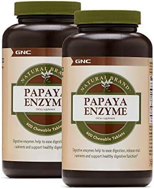 GNC Natural Brand Papaya Enzyme - Twin Pack