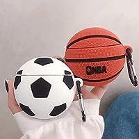 Funda para Airpods con llavero de baloncesto y fútbol a prueba de ...