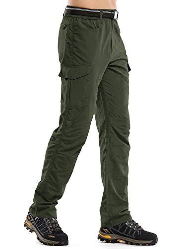 Asfixiado Hiking Cargo Pants Mens Quick Dry Lightweight Water Repellent Fishing Travel Safari Camping UPF 50+ Pants
