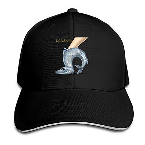 Customized Unisex Barrashuda Barracuda Fish Shoe Trucker Baseball Cap Adjustable Peaked Sandwich Hat