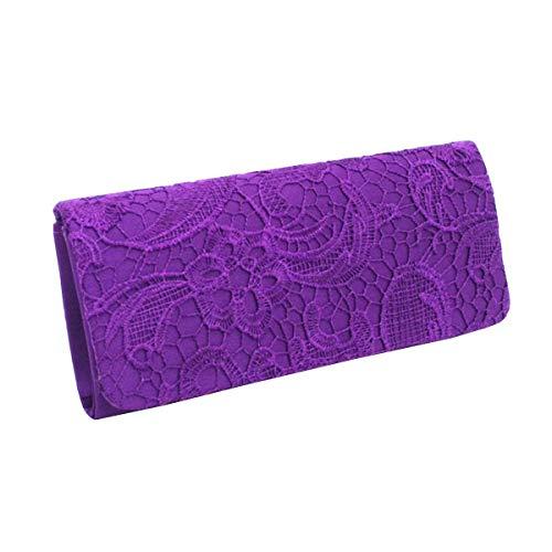 Noche Mujeres Encaje Blue1 Small Purple Monedero Tamaño Embrague Suave Boda grow Impreso De color Elegante Sky Bolso Hombro Las Dama Flor wx10WqOYnB