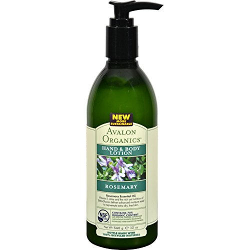 2 Pack of Avalon Organics Hand & Body Lotion - Rosemary 12 f