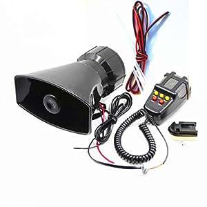 DHUILE Altavoz Siren para coche alarma Siren 12 V 80 W para ...