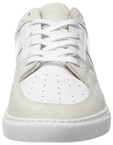 gelo uomo basse Schmoove bianco Tennis da nappa Suede Cup Grigio Sneakers wgfgz7Aq