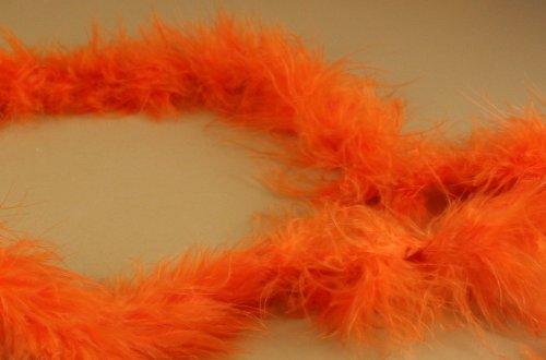 Mini Marabou Feathers BOA Craft Decoration 14 Grams - 2 Yards (ORANGE)