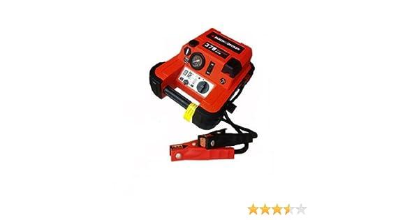 Amazon.com: BLACK+DECKER JUS375IB 375 Amp Jump Starter with Compressor: Automotive
