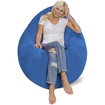 Amazon Com Chill Sack Bean Bag Chair Pillow Giant Memory