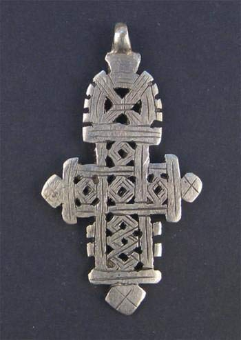 Silver Ethiopian Coptic Cross Pendant, 100% Authentic & Genuine African Abyssinian Product, Orthodox Christian Pendant for Jewelry, The Bead Chest (Necklace Cross Unique)