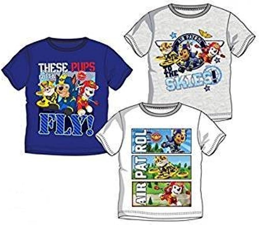 Pack de 3 Camisetas Diferentes Modelos Diseño Patrulla Canina Paw ...