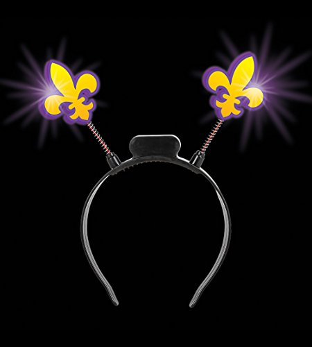 Light-up Fleur De Lis Head Boppers (1 Piece) (Fleur De Lis Costume)