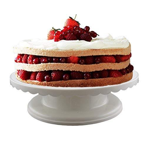 Adorox Rotating Cake Turntable Decorating Display Stand Dessert Platform Revolving Baking Supplies (1)]()