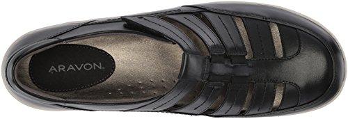 Aravon Onyx für Tan Alpaka Damen Brombeer Black Sandale g8aqwHg