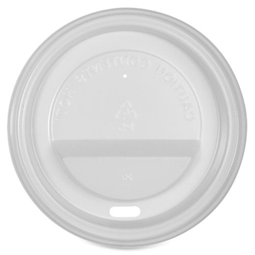 Genuine Joe Protective Hot Cup Lids - Polystyrene - 50 / Pack - White