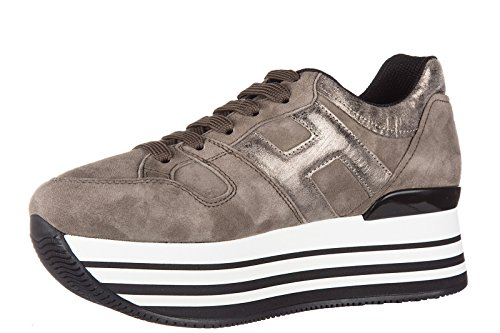 Hogan Damenschuhe Turnschuhe Damen Wildleder Schuhe Sneakers h283 maxi 222 allac