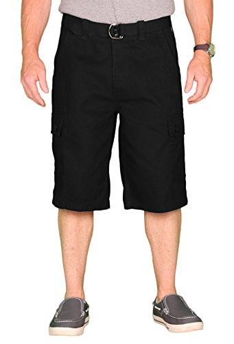 One Tough Brand OTB Men's Cotton Cargo/Camp Short, Black, Size 38