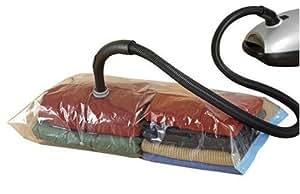 Wenko 3792720100 - Bolsas de plástico para almacenaje al vacío (pack de 2 unidades de 90 x 56 cm), color transparente