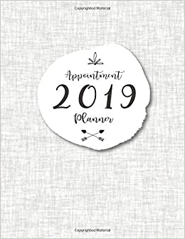 2019 appointment planner 52 weeks daily planner organizer 2019