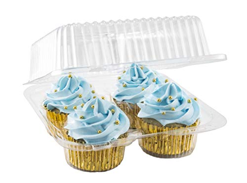 Katgely 4 Cupcake Container Ideal to Carry Cupcakes (Pack of 50)