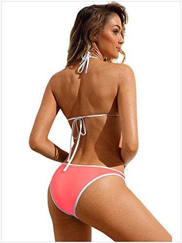 Bagno Houjibofa Pezzi Triangolare Da Pink Bikini 410628 Costume 2 rRnaRwEq
