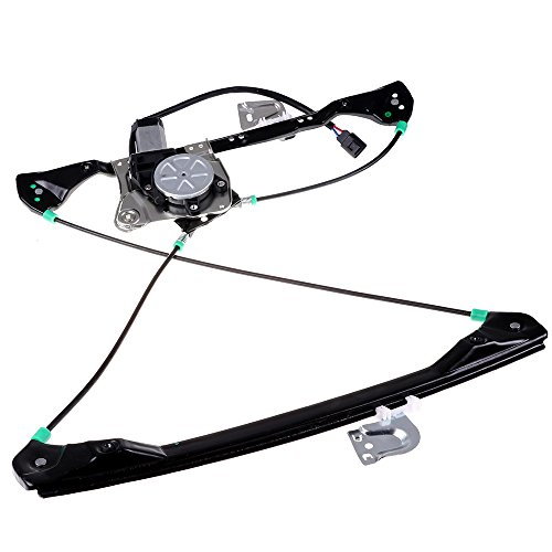 cciyu Front Left Drivers Side Power Window Lift Regulator With Motor Assembly Replacement Replacement fit for 1999-2005 Pontiac Grand Am 4 Door 1999-2004 Oldsmobile Alero 4 Door ()