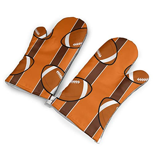 Polobili Cleveland Browns Fabric 4287(3887) Heat Insulation Gloves, A Pair of Gloves, A Heat Insulation Mat.(1.6 Inches Thick)