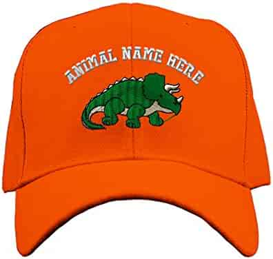 0205b878a6f6c Custom Baseball Hat Triceratops Dinosaur A Embroidery Animal Name  Structured Cap