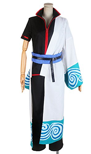 Cosonsen Gintama Silver Soul Gintoki Sakata Cosplay Costume Full Set All Sizes