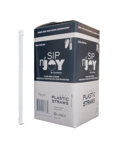 Crystalware Plastic Straws Individually Wrapped product image