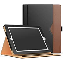Case for iPad 2 / 3 / 4 - MoKo Slim Folding Stand Folio Cover for Apple iPad 2 / The NEW iPad 3 (3rd Gen) / iPad 4 with Auto Wake/ Sleep and Document Card Slots, Multiple Viewing Angles, BLACK & BROWN