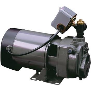 Tank 6 Gal Eqv 15 Gal capacity Pentair Water-Flotec-Simer 320515H 1//2 HP Convertible Deep Well Jet Pump