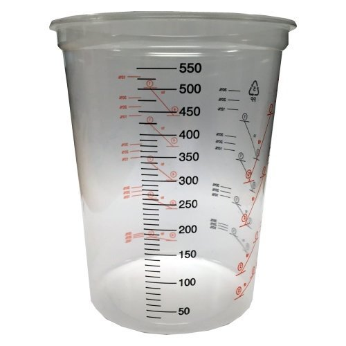 600ml Clear Plastic Mixing Cup - 100pk - No Lid Polycraft ( MB Fibreglass )