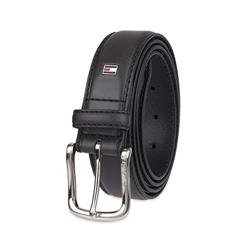 Tommy Hilfiger Men's Casual Belt, Black logo, 36 (Business Belt)