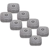 8 Pack Water Leak Detector - 95 Db Flood Detection Alarm Sensor Bathrooms, Basements Kitchens Mindful Design (Grey)