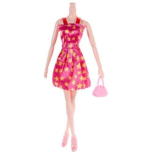 Amazon.es: 30pcs Vestir accesorios para muñecas=10pcs de boda hecho a mano Barbie + 10 pares de zapatos + 10pcs bolso de bandolera: Juguetes y juegos