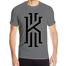 Candi Men's Kyrie #2 Irving Short Sleeve Sports Latest Tshirt DeepHeather
