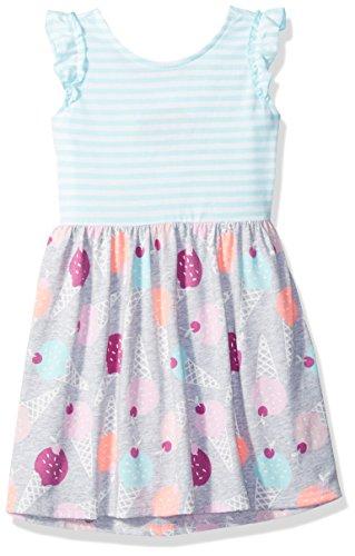 Gymboree Girls Toddler Two-Tone Printed Knit Dress