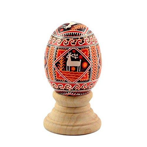 BestPysanky Blank Unfinished Wooden Egg Stand Holder Display