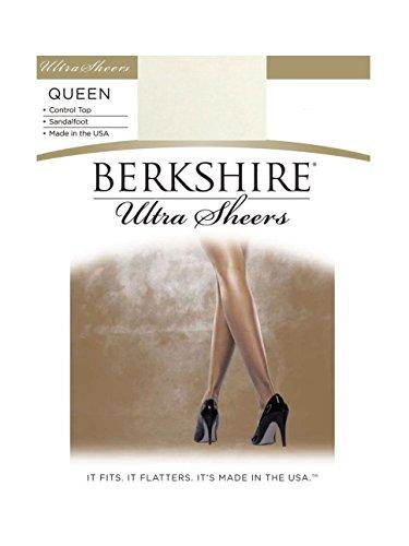 (Berkshire Women's Plus-Size Queen Size Ultra Sheer Pantyhose - 4411, Ivory,)