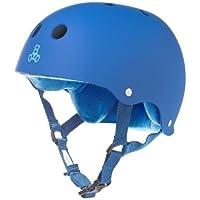 Triple 8 Rubber Helmet with Sweatsaver Liner (Royal Blue Rubber, Large)